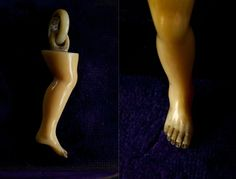 19th Century Ivory Leg Pendant