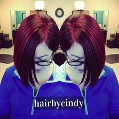 Merlot red anybody? ❤ hair color by cindy