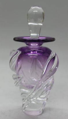 SIGNED ART GLASS PERFUME BOTTLE