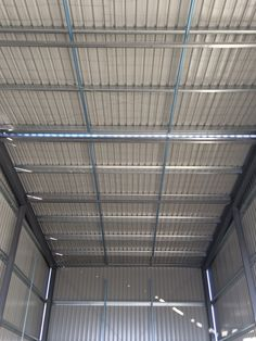 Ultraspan custom building. View of the roof. Sheeted by Kieren Lee Plumbing & Construction 0428690696
