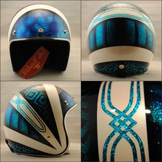 *SOLD* Biltwell Inc. novelty one size fits most. Blue candy silver pearl