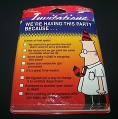 NEW VINTAGE  RETIREMENT DILBERT OFFICE GOODBYE PARTY SUPPLIES LUNCHEON NAPKINS