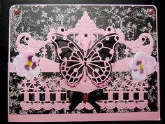 Carte créée le 26.05.2015 en rose et noir