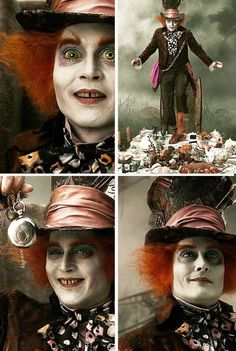 Johnny Depp; Mad Hatter; Alice in Wonderland.