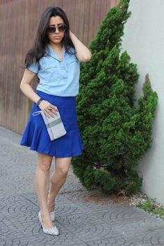 Look do dia Tons azul em simplesmentebarbara.com.br