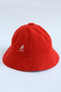 USED&VINTAGE KANGOL パイルハット RED ¥3,500 (TAX IN)