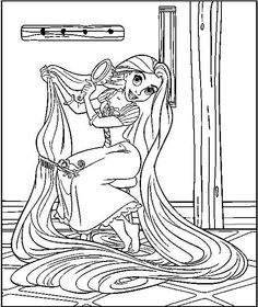 Collection Of Rapunzel Tangled Coloring Pages For Children