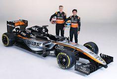 En la ciudad de México, Force India reveló el nuevo diseño de su monoplaza junto con sus pilotos Sergio Pérez y Nico Hulkenberg.