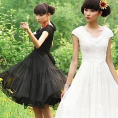 #Swanmarks Liebo New Summer 6 Meters Long Bottom Chiffon Short Sleeve Dress