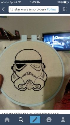Storm trooper embroidery