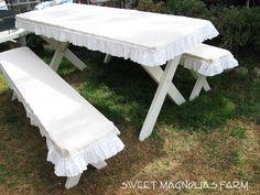 Sweet Magnolias Farm: Farmhouse Picnic Table headed to The Vintage Marketplace at the Oaks