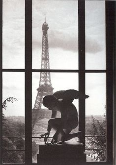 Paris, the Angel and the Eiffel Tower