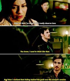 """After all that I've done, I don't really deserve love"" - Jasmine and Killian #OnceUponATime"