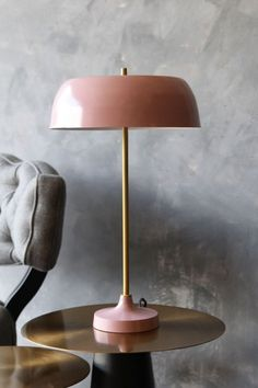 Ventura Table Lamp - Dusky Pink