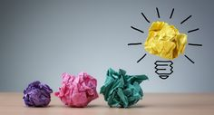 Inspiration concept crumpled paper light bulb metaphor for good idea - stock photo Great Small Business Ideas, New Business Ideas, Starting A Business, Business Tips, Online Business, Craft Business, Business Planning, Creative Business, Design Thinking