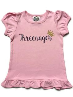 Hey, I found this really awesome Etsy listing at https://www.etsy.com/listing/266708432/girl-toddler-shirt-threenager-toddler