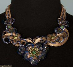 Haskell Blue Jeweled Necklace, 1940-1950, Augusta Auctions, November 14, 2012 NEW YORK CITY, Lot 317