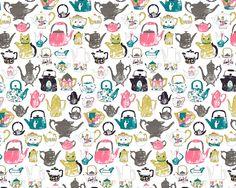 Teapot pattern by Harriet Taylor Seed.