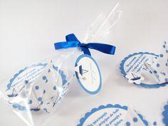 ímã decorativo || poá azul com tsuru - Sakura Origami & Acessórios