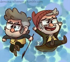 "Some Sea Chibi Stans for your Chibi Stans needs.OMG just imagine them (especially Stan) singing this ->> ""Mr. Hurley und Die Pulveraffen - A Whale of a Tale""                                                                                                                                                                                                                                                                                                                                             ..."