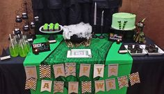 Dessert table at a Halloween witch party!  See more party planning ideas at CatchMyParty.com!