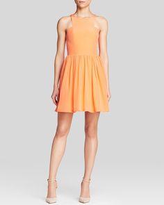 Marina! Amanda Uprichard Dress - Elle Silk | Bloomingdale's