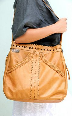 This leather shoulder bag is made to order from high quality leather. This pretty little bag has beautiful crafted detail. Two front large pockets that Brown Leather Purses, Leather And Lace, Leather Handbags, Leather Bags, Little Bag, Handbag Accessories, Fashion Accessories, Leather Shoulder Bag, Purses And Bags