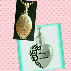 Heart Urn and Four picture locket for @hnasmama Pre ordered  Hold till Monday Jewelry Necklaces