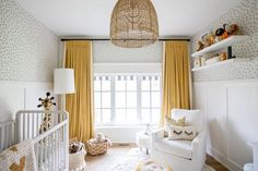"""Co-host of HGTV Canada's """"Love It or List It Vancouver"""" & Former Bachelorette, Jillian Harris, shares how custom drapes complete your space. Baby Room Design, Nursery Design, Baby Room Decor, Ikea Baby Room, Jillian Harris, Baby Nursery Neutral, Grey Yellow Nursery, Gender Neutral Bedrooms, Bedroom Yellow"""