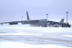 """On alert at MINOT, N. — A bomber at Minot Air Force Base. """"Why not Minot?"""" """"Freezin' s the reason!"""" """"Only the insane remain. Military Jets, Military Aircraft, Fighter Aircraft, Fighter Jets, B 52 Stratofortress, Air Force Bases, Jet Plane, Us Navy, Airplanes"""