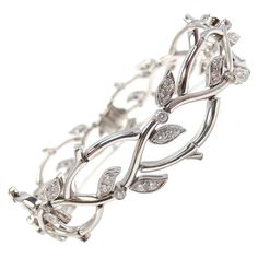 """Tiffany and Co. diamond and platinum bracelet """"garland collection"""" I'm not a big jewelry fan but I LOVE LOVE LOVE this!:"""