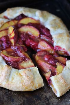 This peach raspberry galette is a simple, rustic, and honest summer fruit galore with juicy peaches, nectarines and raspberries.