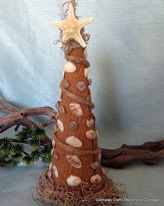 Coastal Christmas Tree beach decor  Sea by CarmelasCoastalCraft, $24.00