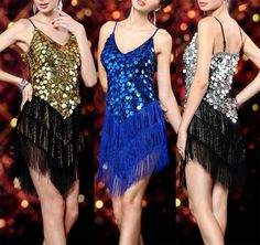 Ladies Night Club Cocktail Party Latin&Ballroom Dance Sequin Fringe Dress 1256 | eBay