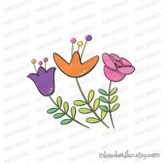 Spring Flowers Leaves Cute Pretty Doodles Clipart Embroidery School Teacher Clip Art Scrapbooking Embellishment by Inkee Doodles, $4.50, #SpringFlowers #Leaves #Cute #Pretty #Doodles #Clipart #Embroidery #School #Teacher #Clip #Art #Scrapbooking #Embellishment