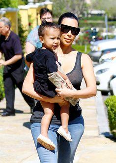 Kim Kardashian and North West at the movies in Calabasas, CA
