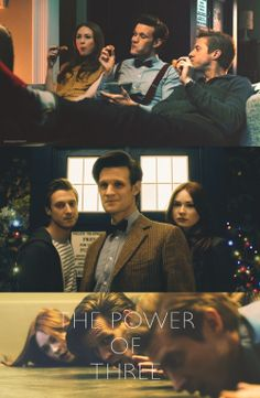 the power of three | by ameliasrory @Tumblr // doctor who; eleventh doctor; amy pond; rory williams