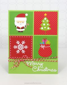 Doodlebug Design Inc Blog: Super Quick Grid Christmas Cards