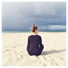 Open eyed meditation. Ocean gazing.