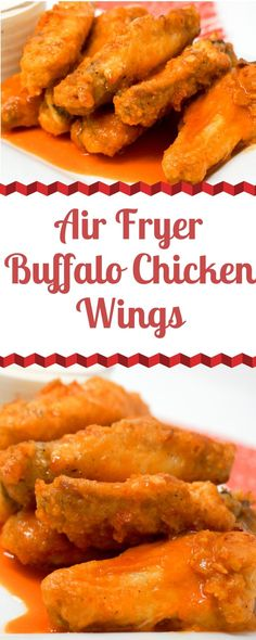 Air Fryer Buffalo Chicken Wings are a great party snack or appetizer. The Air Fryer makes the Chicken Wings nice and crispy while the homemade buffalo sauce brings the heat. Air Fry Chicken Wings, Frozen Chicken Wings, Crispy Chicken Wings, Chicken Breasts, Buffalo Chicken Sauce, Homemade Buffalo Sauce, Homemade Wings, Spicy Wings, Chicken Wing Recipes
