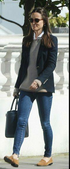 Pippa Middleton à Londres aujourd'hui le 7 avril 2017