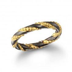 Gunmetal and Gold Intertwined Ring  | Satya Jewelry