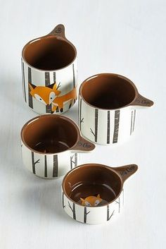These woodland measuring cups. | 21 Adorable Fox Products You Need In Your Life