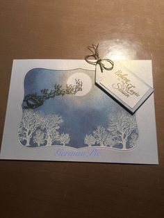 Christmas card, embossing, stamping, die-cutting, distress ink, Weihnachtskarte