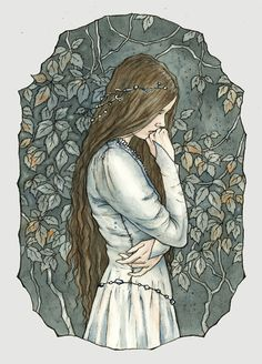 Anairë is the wife of Fingolfin. Little is known about her, except that she did not leave Aman and was friends with Eärwen, Finarfin's wife. They had four children, namely Fingon, Turgon, Aredhel, and Argon. She presumably still resides in Aman. parting is always sad by liga-marta.deviantart.com
