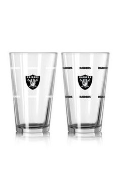 Boelter  16-oz. NFL Raiders 2-pack Color Change Pint Glass Set