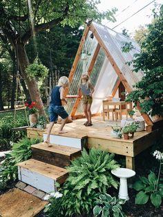 Backyard Playground, Backyard For Kids, Backyard Projects, Outdoor Projects, Backyard Patio, Backyard Landscaping, Backyard Treehouse, Treehouse Ideas, Backyard Designs