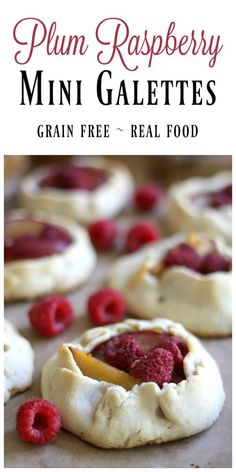 Rustic Mini Plum Raspberry Galettes are full of beautiful thickly sliced plums and sweet, juicy raspberries. Pure summer bliss packed into a little pie crust. | Recipes to Nourish