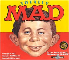 I love MAD magazines. Especially when you trifold the back to make a picture