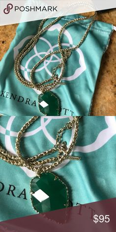 Kendra Scott Corla Green Retired comes in dust bag mint condition Kendra Scott Jewelry Necklaces